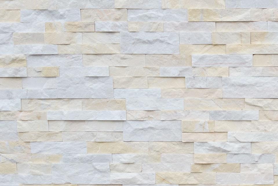 Natural Stacked Stone Veneer Wall