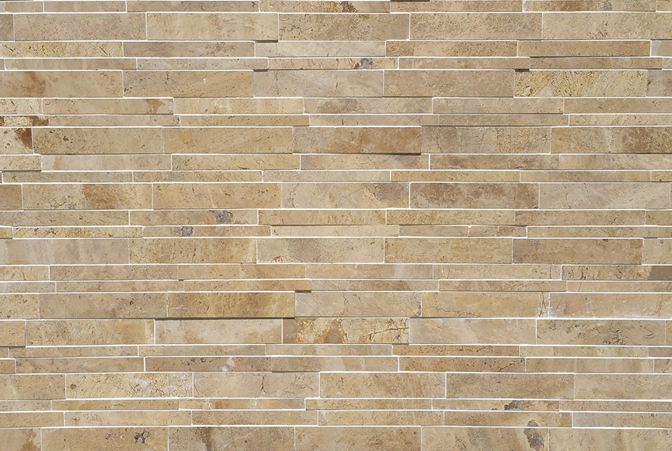 Lynia Beige Marble Wall Tile Installation