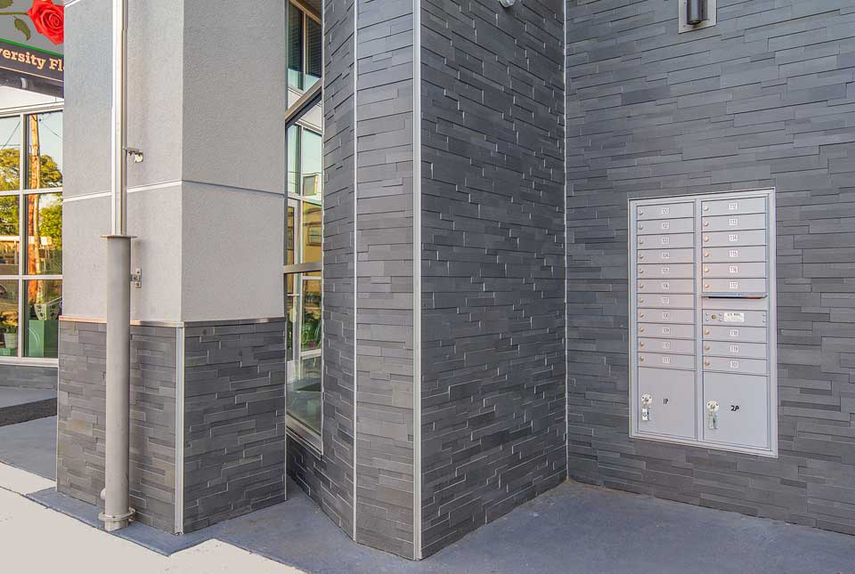 Medium Grey Basalt Ledgestone Panels for Walls