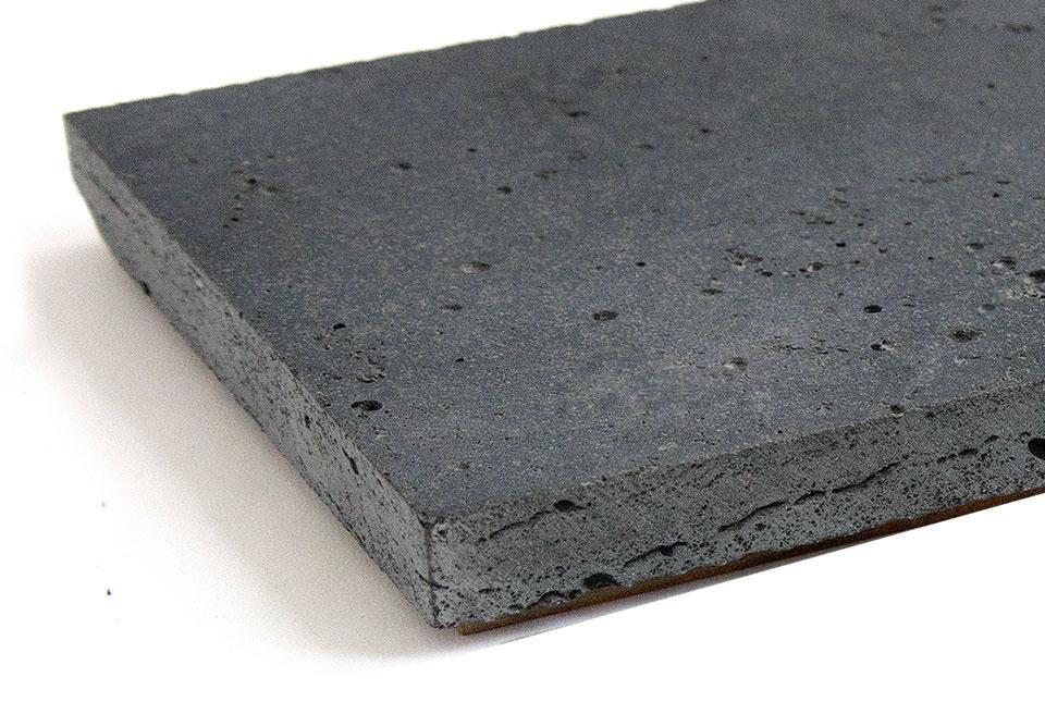 Close Up Graphite Lava Stone Planc
