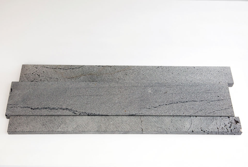 Platinum Grey Lava Stone Planks Used For Walling