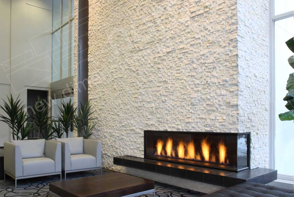 white stacked quartz panels for walls by norstone rh norstoneusa com For Real Stone Veneer Fireplace Home Depot Stone Veneer Fireplace