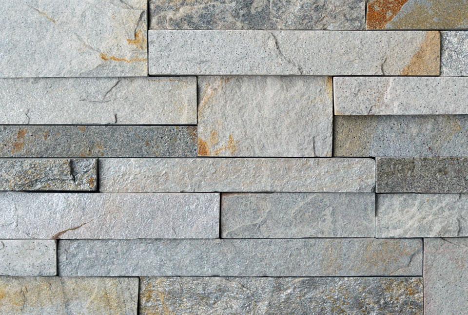 Silver Grey Ledgestone Cross Section