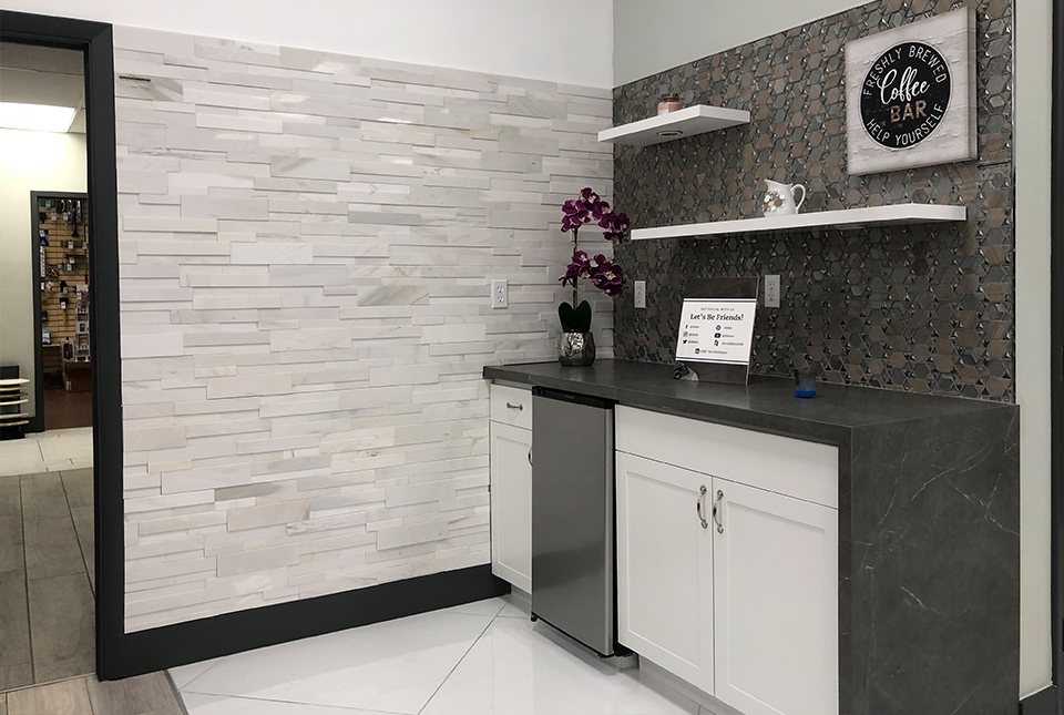 Norstone 3D White Marble Feature Wall