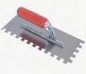 Tools for Installing Ledgestone Veneer - Half-inch notched Trowel to Apply Thinset
