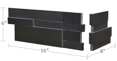 Ebony Corner Basalt 3D Panel