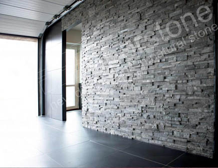 Norstone Charcoal Interior Ledgestone Feature Wall in Dallas
