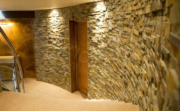 Norstone Natural Stone Veneer Fireplace TV Surround