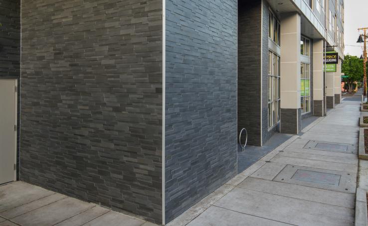 Grey 3D Exterior Wall Stone Washington DC