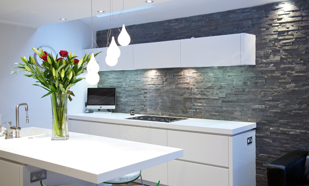 Ledgestone Backsplash Designs