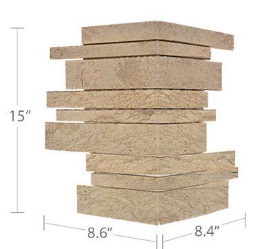 Norstone Beige Marble Mosaic Wall Tile Corner Specs
