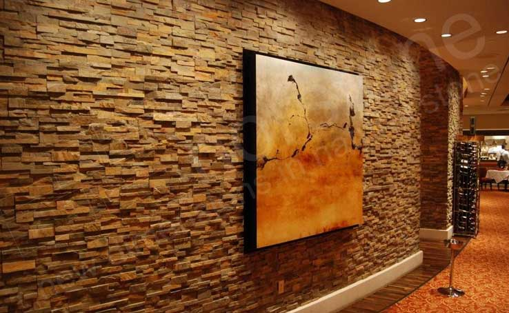 Interior Stacked Stone Veneer Wall Panels | Interior Stone Cladding
