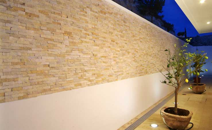 Norstone Cyprus Natural Exterior Thin Stone Project
