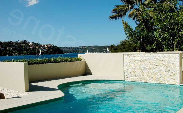 Norstone Natural Stone Pool Wall