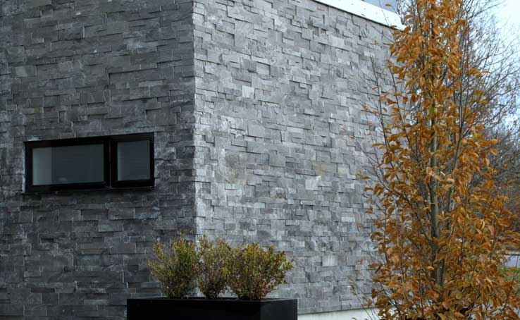 Gallery | Charcoal Thin Stone Veneer Panels