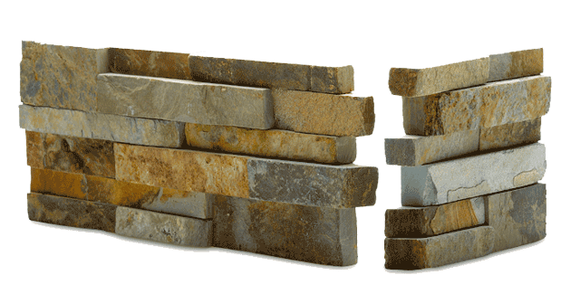 Norstone Ochre Blend Stacked Stone Veneer for Feature Walls, Fireplaces, Backsplashes, and Retaining Walls