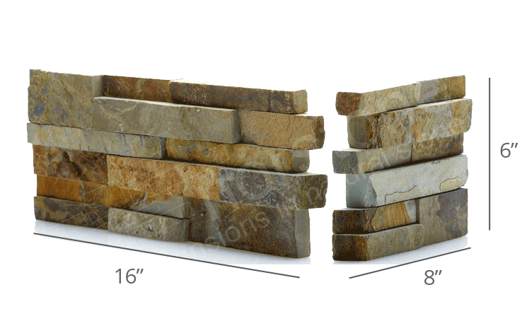 Norstone Stack Stone Fireplace