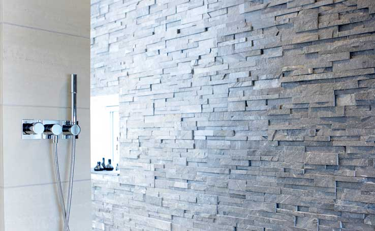 Norstone Stacked Stone Shower