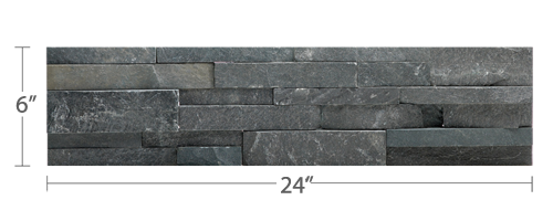 Charcoal Stacked Stone Veneer Rock Panels For Walls By