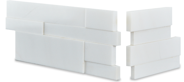 Aksent White Stone Wall Tile