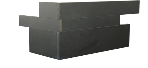 Ebony Planc™ Large Format Corner Tile in Arrow Format