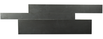 Ebony Planc™ Large Format Field Tile in Arrow Format