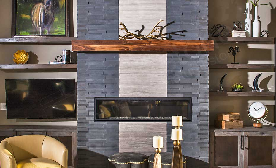 Springhaus Basalt 3D Grey Fireplace