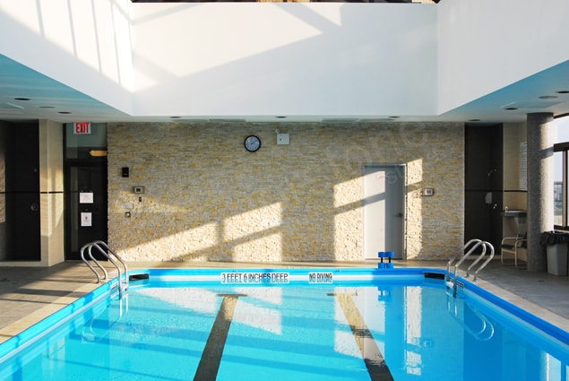 Indoor Pool Ivory Ledgestone Feature Wall