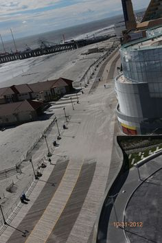 Damage to Boardwalk from Superstorm Sandy at Revel Casino in Atlantic City