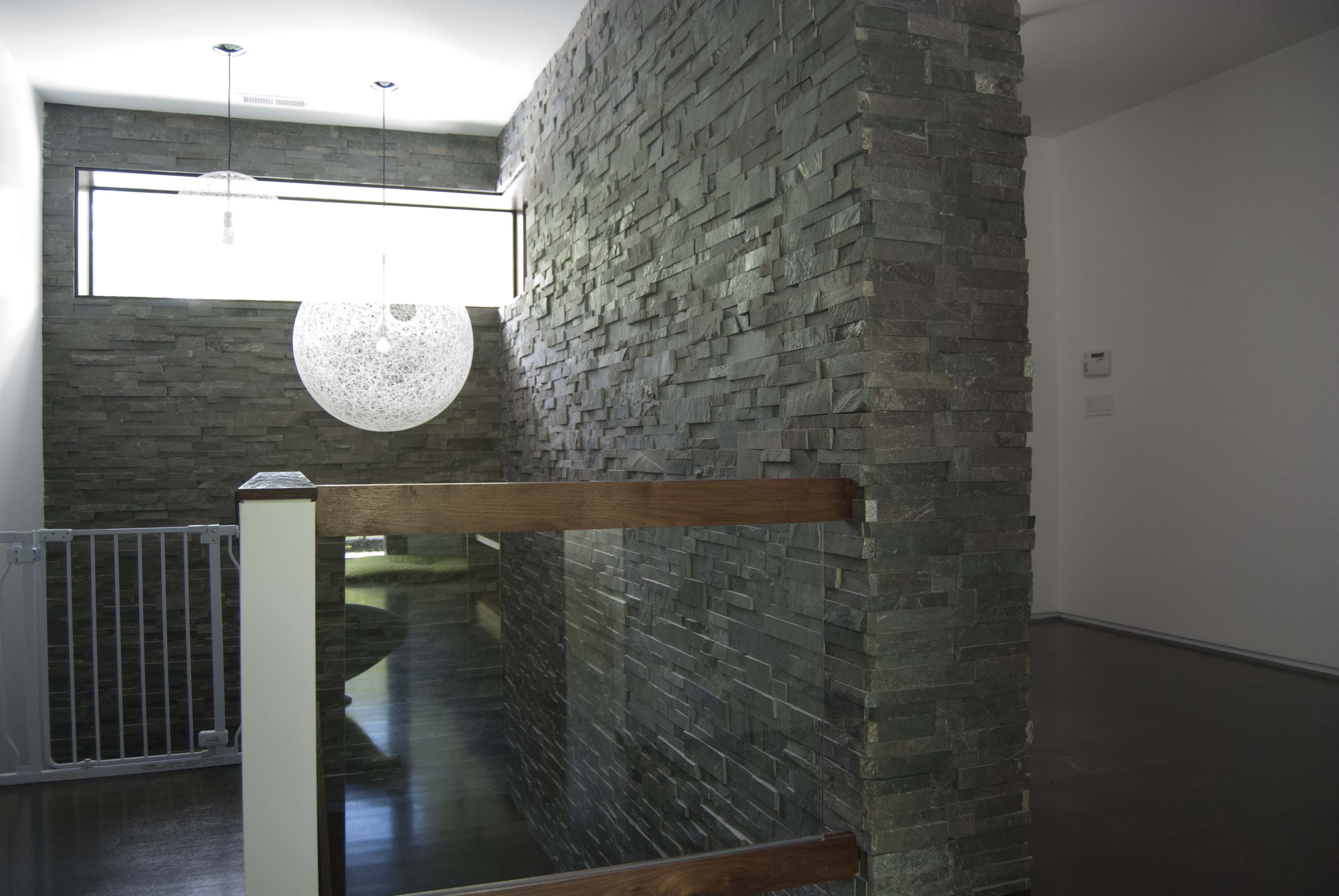 Stone Veneer used in Stairwell of Home