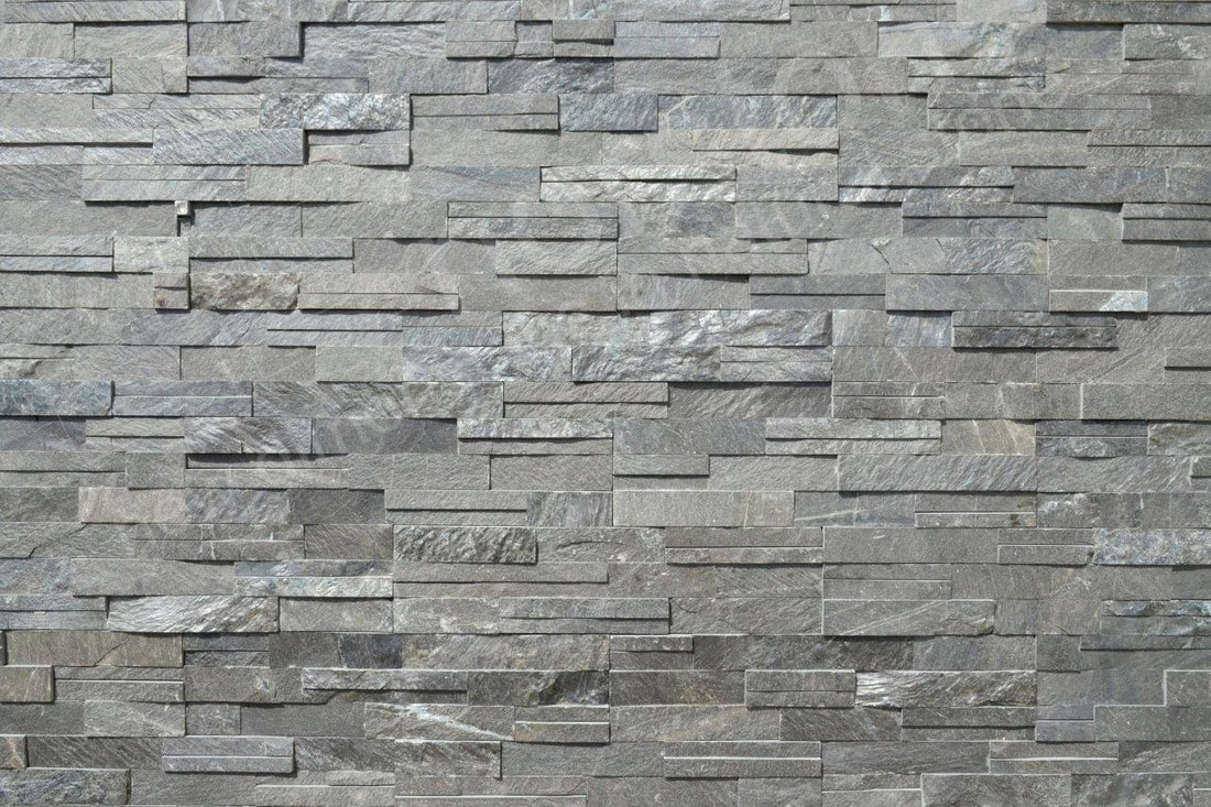 Feature Wall of Norstone Slim Line Charcoal Color