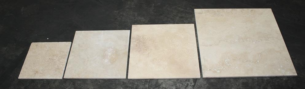 Photo Showing Increasing Sizes In Tile Throughout The Years