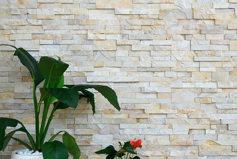 Norstone Pearl XL Stone VEneer Demo Wall