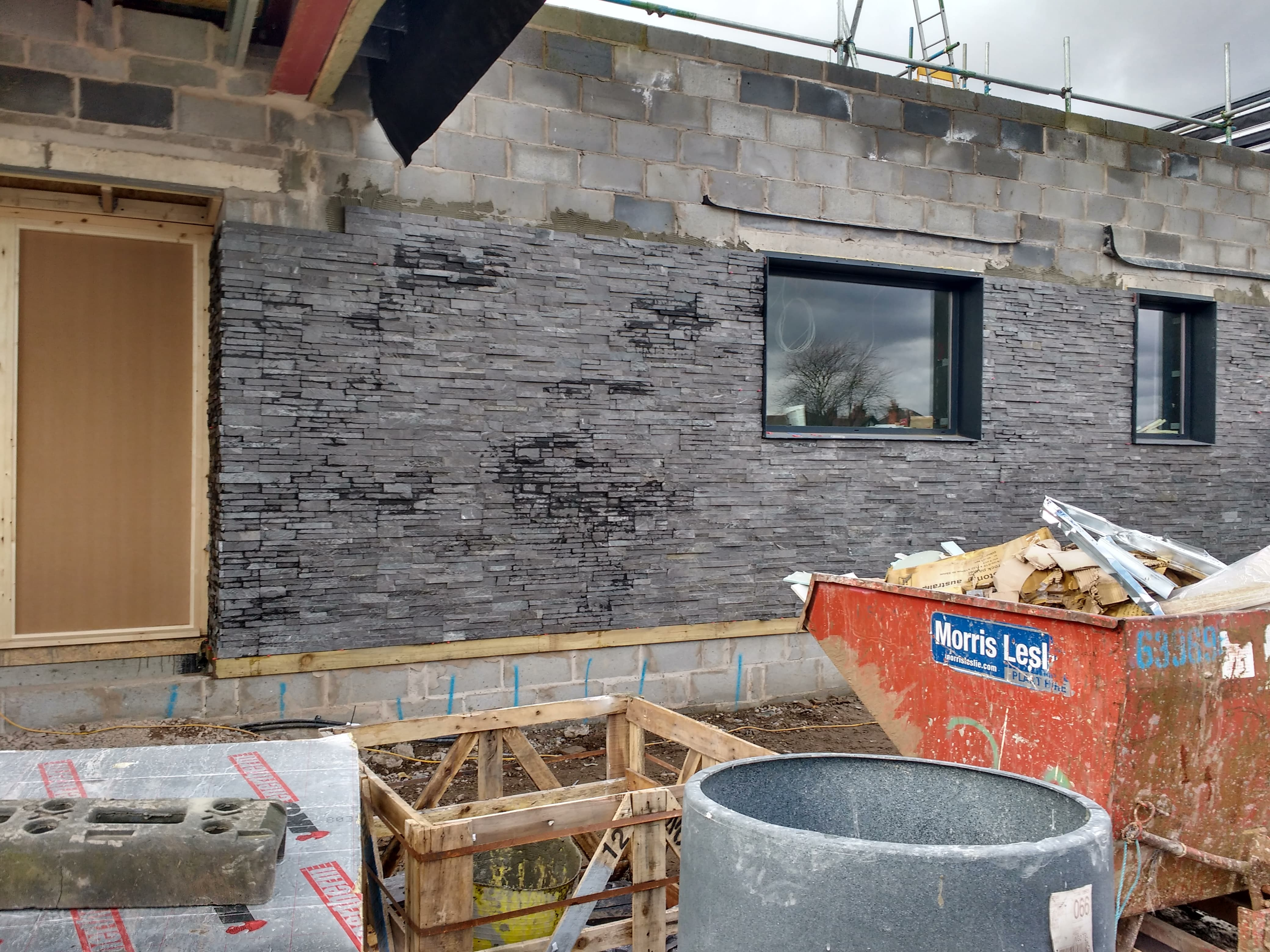 Norstone Stacked Stone contributing towards waste management credits on a LEED certified project