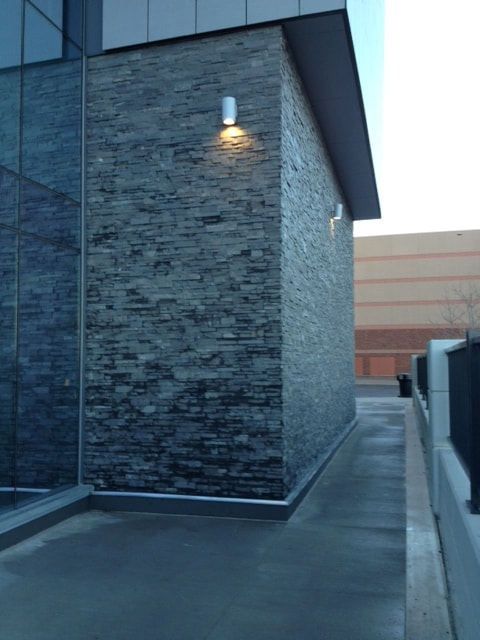 Norstone Charcoal XL Large Stone Veneer used for a modern look at Mall of America in Minnesota