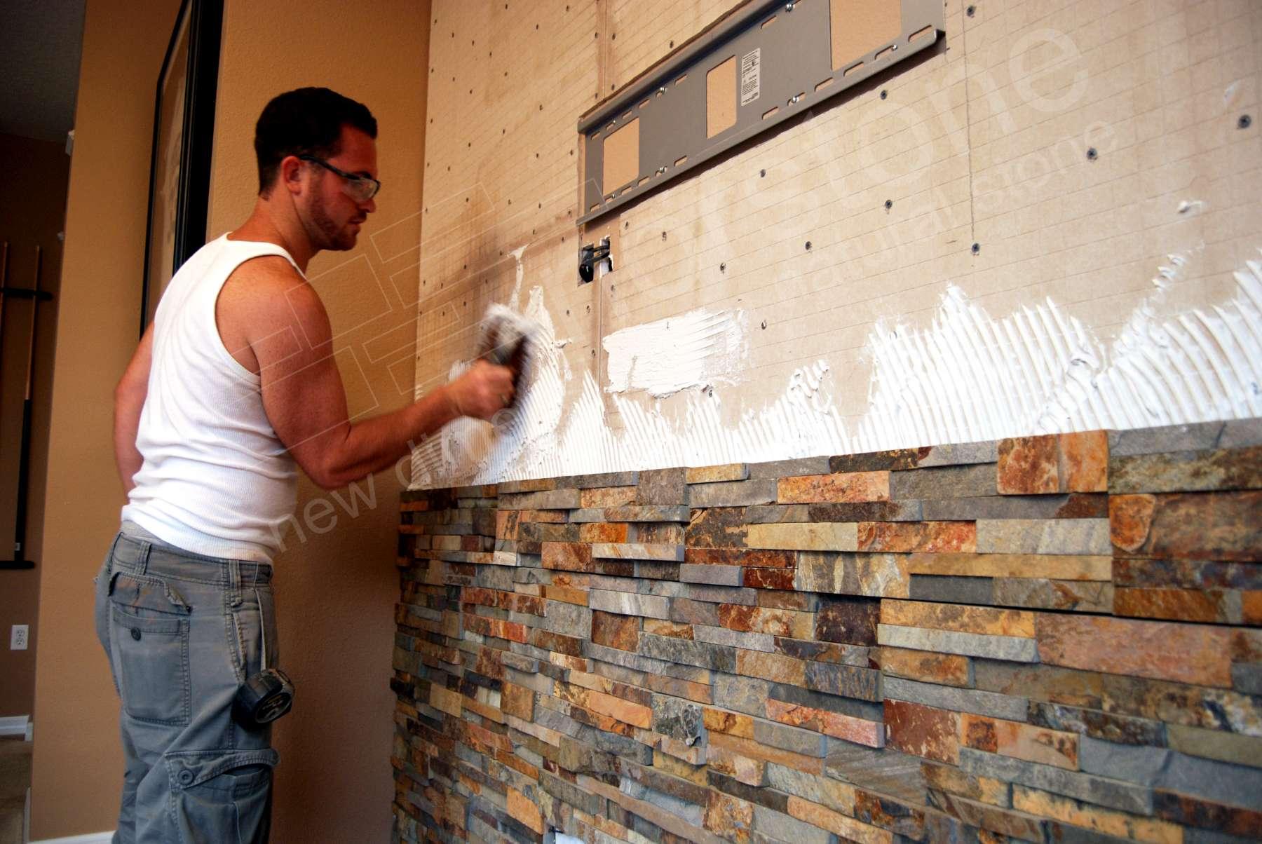 installing stone veneer panels